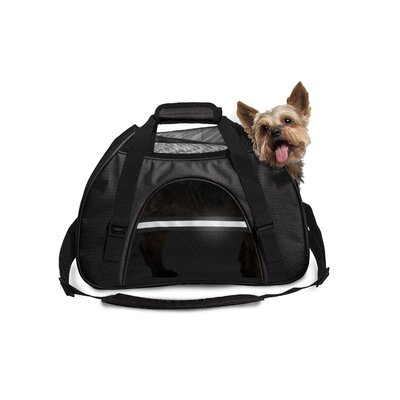 Pet Carrier Color: Black, Size: Large (12 H x 9 W x 18 L)