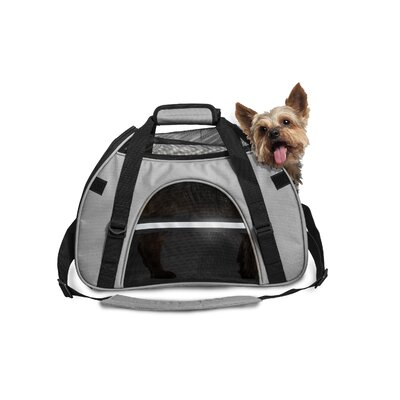 Pet Carrier Color: Gray, Size: Small (11 H x 8 W x 16 L)