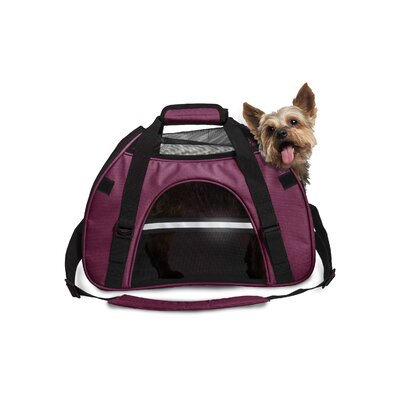 Pet Carrier Color: Raspberry, Size: Large (12 H x 9 W x 18 L)