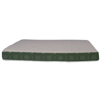 Deluxe Paw Decor Memory Foam Dog Bed Color: Jade Green, Size: Small (20 L x 15 W)