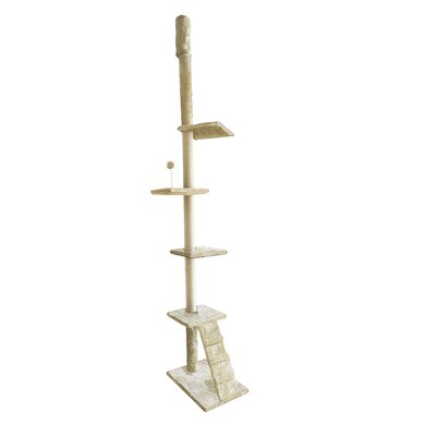 127 Tiger Tough Playground Cat Tree Color: Beige