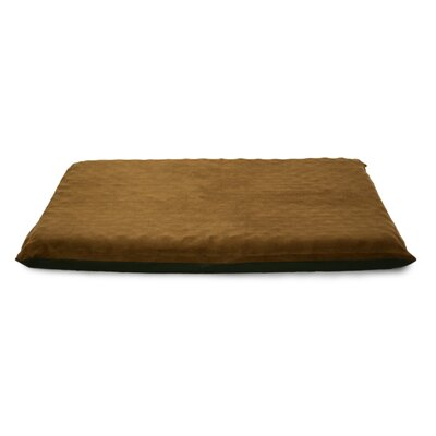 Suede Top Orthopedic Dog Mat Color: Espresso, Size: Large (42 L x 33.5 W)