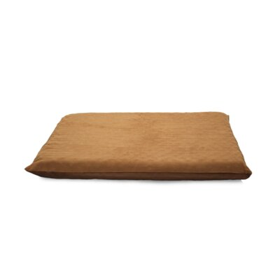 Suede Top Orthopedic Dog Mat Color: Camel, Size: Large (42 L x 33.5 W)