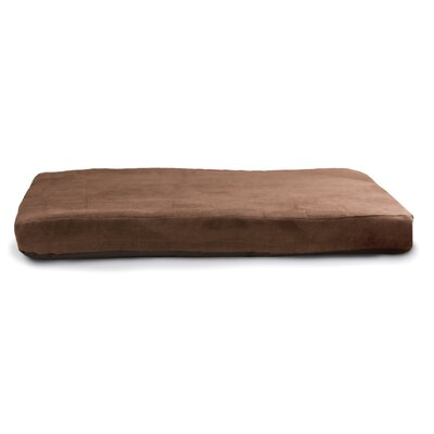Quilted Suede Memory Foam Dog Bed Color: Espresso, Size: Medium (36 L x 27 W)