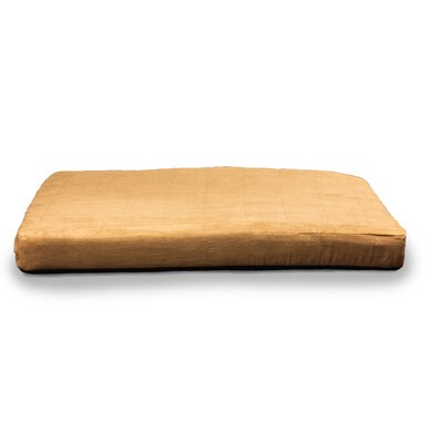 Quilted Suede Memory Foam Dog Bed Color: Camel, Size: Small (30 L x 20 W)