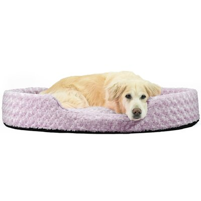 Bianca Ultra Plush Oval Pet Bed with Removable Cover Size: Jumbo (42 L x 29 W), Color: Lavender