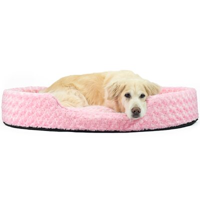 Bianca Ultra Plush Oval Pet Bed with Removable Cover Size: Jumbo (42 L x 29 W), Color: Strawberry