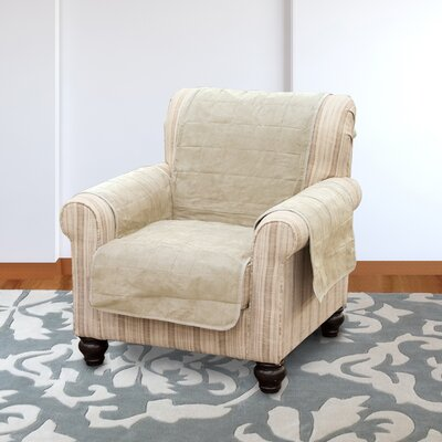 Suede Armchair Slipcover Color: Clay