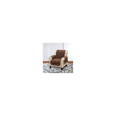 Suede Armchair Slipcover Color: Espresso