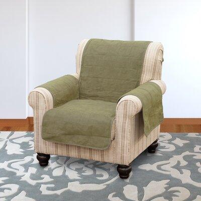 Suede Armchair Slipcover Color: Sage