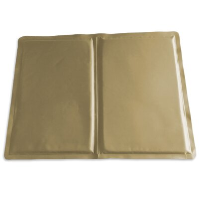 Pupicicle Dog Cooling Mat Color: Tan, Size: Medium (20 L x 16 W)