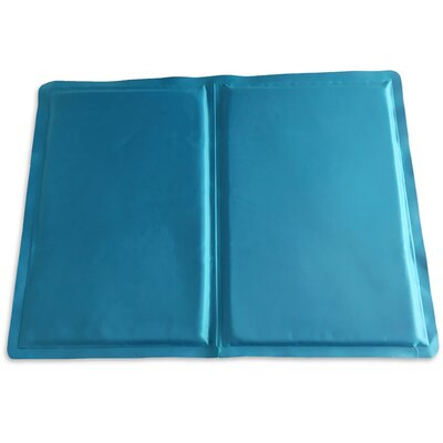 Pupicicle Dog Cooling Mat Color: Blue, Size: Medium (20 L x 16 W)