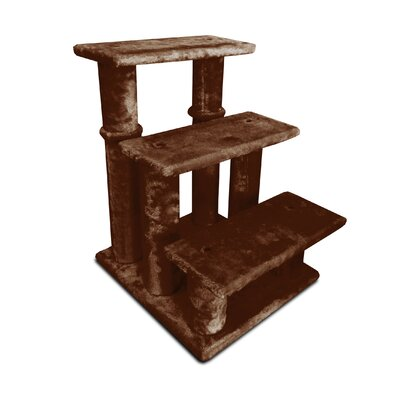 Steady Paws 3 Step Pet Stair Color: Brown