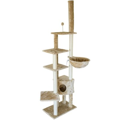 Furhaven Tiger Tough Skyscraper Playground Cat Tree