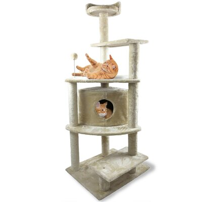 59.8 Tiger Tough Platform House Playground Cat Tree