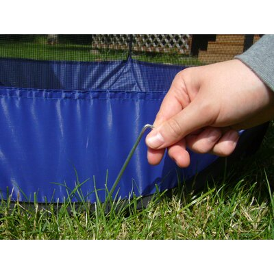 Portable Mesh Pet Pen Color: Sailor Blue, Size: 30