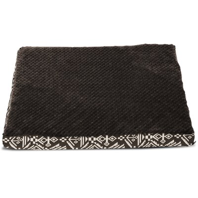 Callan Plush Top Kilim Deluxe Orthopedic Dog Pillow Color: Southwest Espresso, Size: Medium (30 L x 20 W)