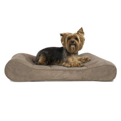 Carmela Microvelvet Luxe Orthopedic Dog Bed Size: Medium (30 W x 20 D), Color: Clay