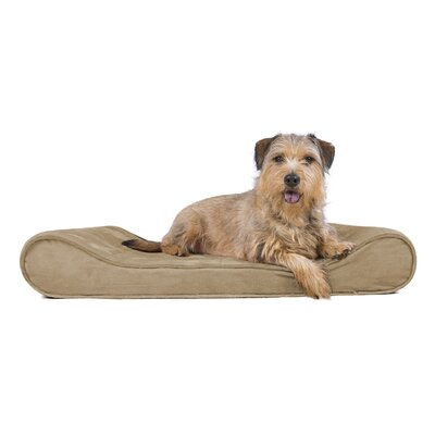 Microvelvet Luxe Orthopedic Dog Bed Size: Large (36 W x 24 D), Color: Clay
