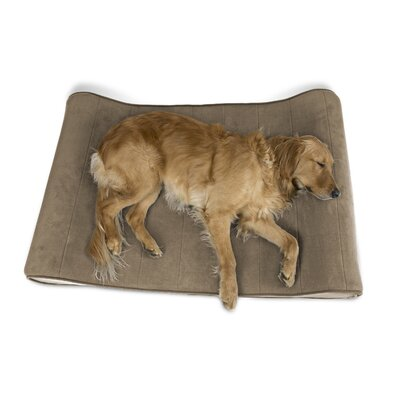 Carmela Microvelvet Luxe Orthopedic Dog Bed Size: Jumbo (45 W x 30 D), Color: Clay