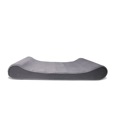 Microvelvet Luxe Orthopedic Dog Bed Size: Jumbo (45 W x 30 D), Color: Gray