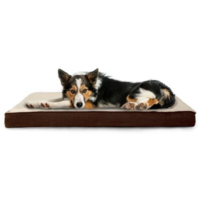 Nap Sherpa/Suede Memory Foam Dog Mat Size: Medium (30 L x 20 W), Color: Espresso