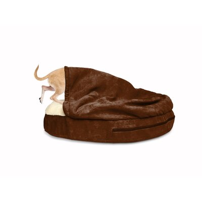 Snuggery Hooded Dog Bed Color: Espresso, Size: 35 W x 35 D