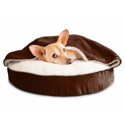 Felix Snuggery Hooded Dog Bed Color: Espresso, Size: 26 W x 26 D