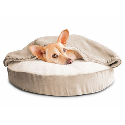 Felix Snuggery Hooded Dog Bed Color: Cream, Size: 35 W x 35 D
