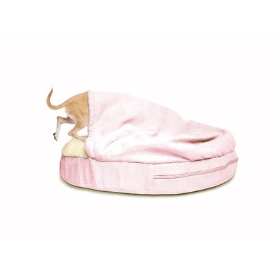 Snuggery Hooded Dog Bed Color: Pink, Size: 35 W x 35 D