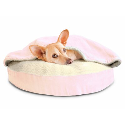 Felix Snuggery Hooded Dog Bed Color: Pink, Size: 35 W x 35 D