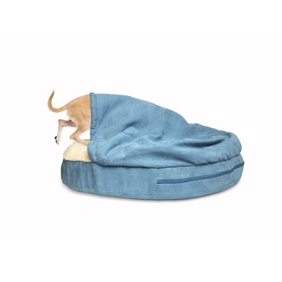 Snuggery Hooded Dog Bed Color: Blue, Size: 35 W x 35 D