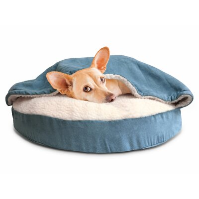 Felix Snuggery Hooded Dog Bed Color: Blue, Size: 35 W x 35 D
