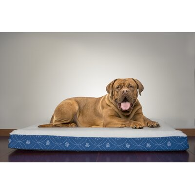 Boris Flannel Egg-Crate Orthopedic Dog Bed Size: Jumbo (44 L x 35 W), Color: Twilight Blue