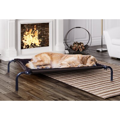 Plush Blanket Accessory for Elevated Pet Cot Size: Small, Color: Espresso