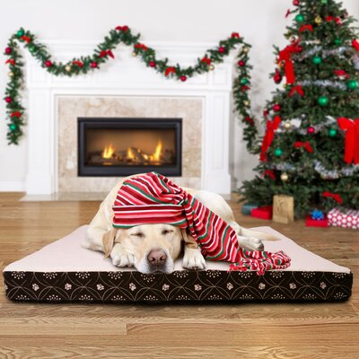 Boris Flannel Egg-Crate Orthopedic Dog Bed Size: Jumbo (44 L x 35 W), Color: Espresso