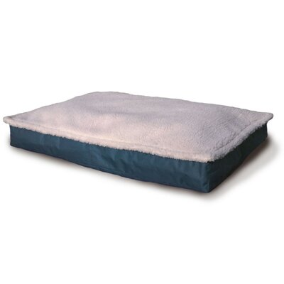 Blossom Deluxe Outdoor Pillow Dog Bed Size: Medium (3 H x 20 W), Color: Marine Blue