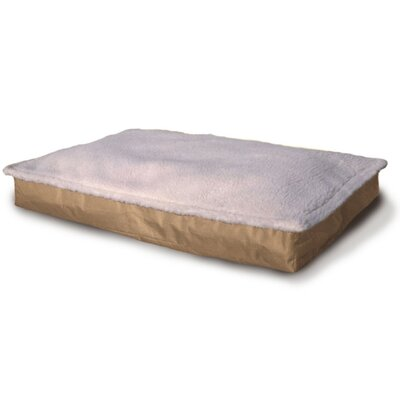 Deluxe Outdoor Pillow Dog Bed Size: X-Large (4.5 H x 35 W), Color: Sand