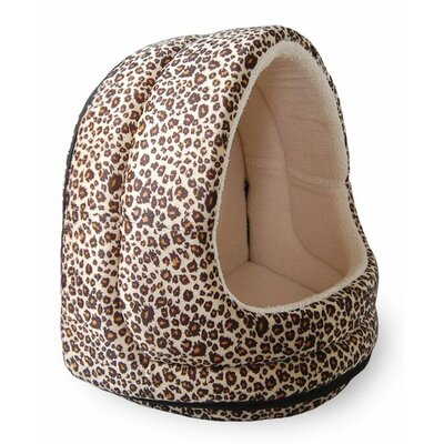 Neagle Fur Hood Cat Bed Color: Leopard