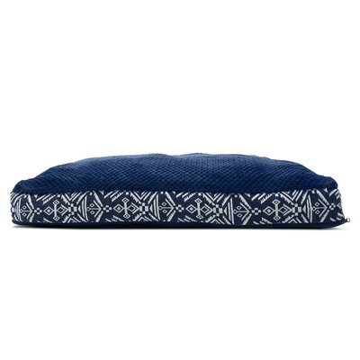 Plush Top Kilim Deluxe Orthopedic Dog Pillow Color: Southwest Indigo, Size: Medium (30 L x 20 W)