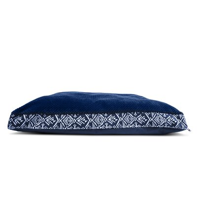Plush Top Kilim Deluxe Orthopedic Dog Pillow Color: Southwest Indigo, Size: Large (36 L x 27 W)