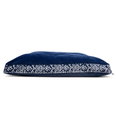Callan Plush Top Kilim Deluxe Orthopedic Dog Pillow Color: Southwest Indigo, Size: Extra Large (44 L x 35 W)