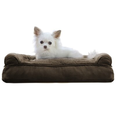 Gerry Dog Bolster Color: Espresso, Size: 6 H x 20 W x 15 D