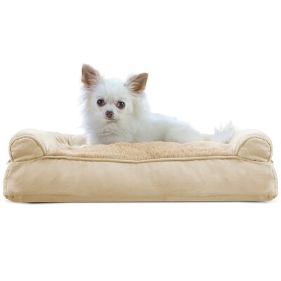 Dog Bolster Color: Clay, Size: 6 H x 20 W x 15 D