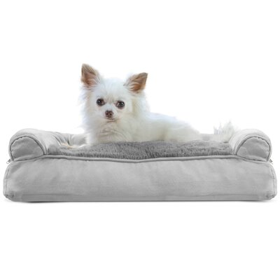 Gerry Dog Bolster Color: Gray, Size: 6 H x 20 W x 15 D