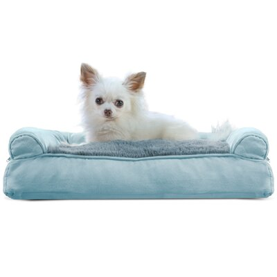 Dog Bolster Color: Deep Pool, Size: 6 H x 20 W x 15 D
