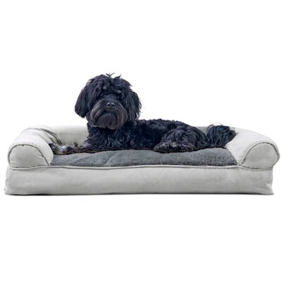 Gerry Dog Bolster Color: Gray, Size: 7 H x 30 W x 20 D