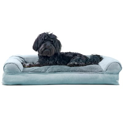 Dog Bolster Color: Deep Pool, Size: 7