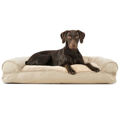 Dog Bolster Color: Clay, Size: 8
