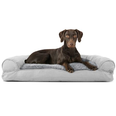 Dog Bolster Color: Gray, Size: 8